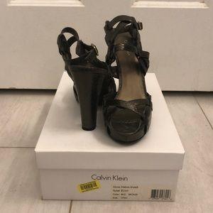Calvin Klein faux snake skin heels